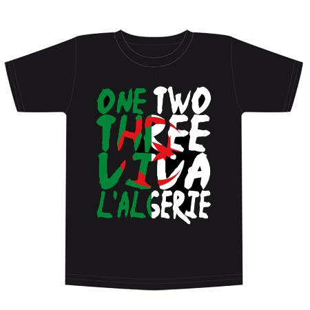 t shirt algerie maillot algerie one two three viva l 39 alg rie i love dz
